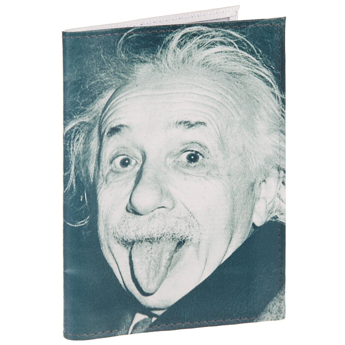 Обложка для автодокументов Эйнштейн. AUTO371AUTO286Стильная обложка для автодокументов Mitya Veselkov Эйнштейн выполнена из натуральной кожи с зернистой текстурой. Обложка оформлена художественной печатью с изображением Эйнштейна. Внутри размещен пластиковый вкладыш с шестью карманами для документов, среди которых карман формата А5.Стильная обложка для автодокументовMitya Veselkov Эйнштейн не только поможет сохранить внешний вид ваших документов и защитит их от повреждений, но и станет стильным аксессуаром, идеально подходящим к вашему образу.