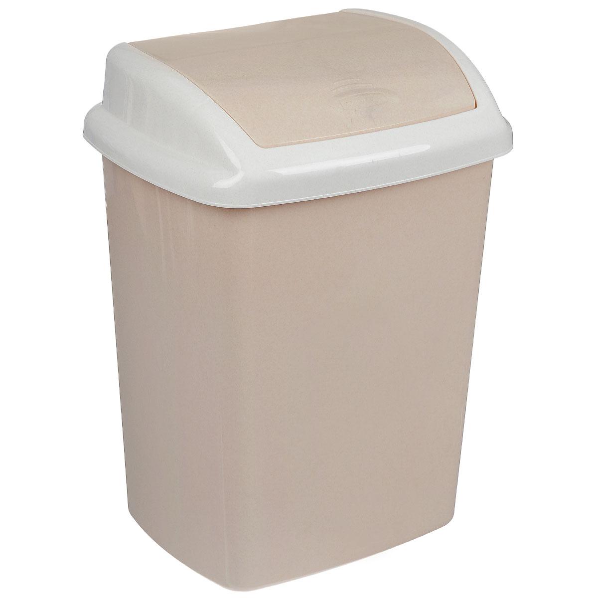 Контейнер для мусора Curver Доминик, цвет: бежевый, белый, 25 л68/5/1Контейнер для мусора Curver Доминик изготовлен из прочного пластика. Контейнер снабжен удобной крышкой с подвижной перегородкой. В нем удобно хранить мелкий мусор. Благодаря лаконичному дизайну такой контейнер идеально впишется в интерьер и дома, и офиса.