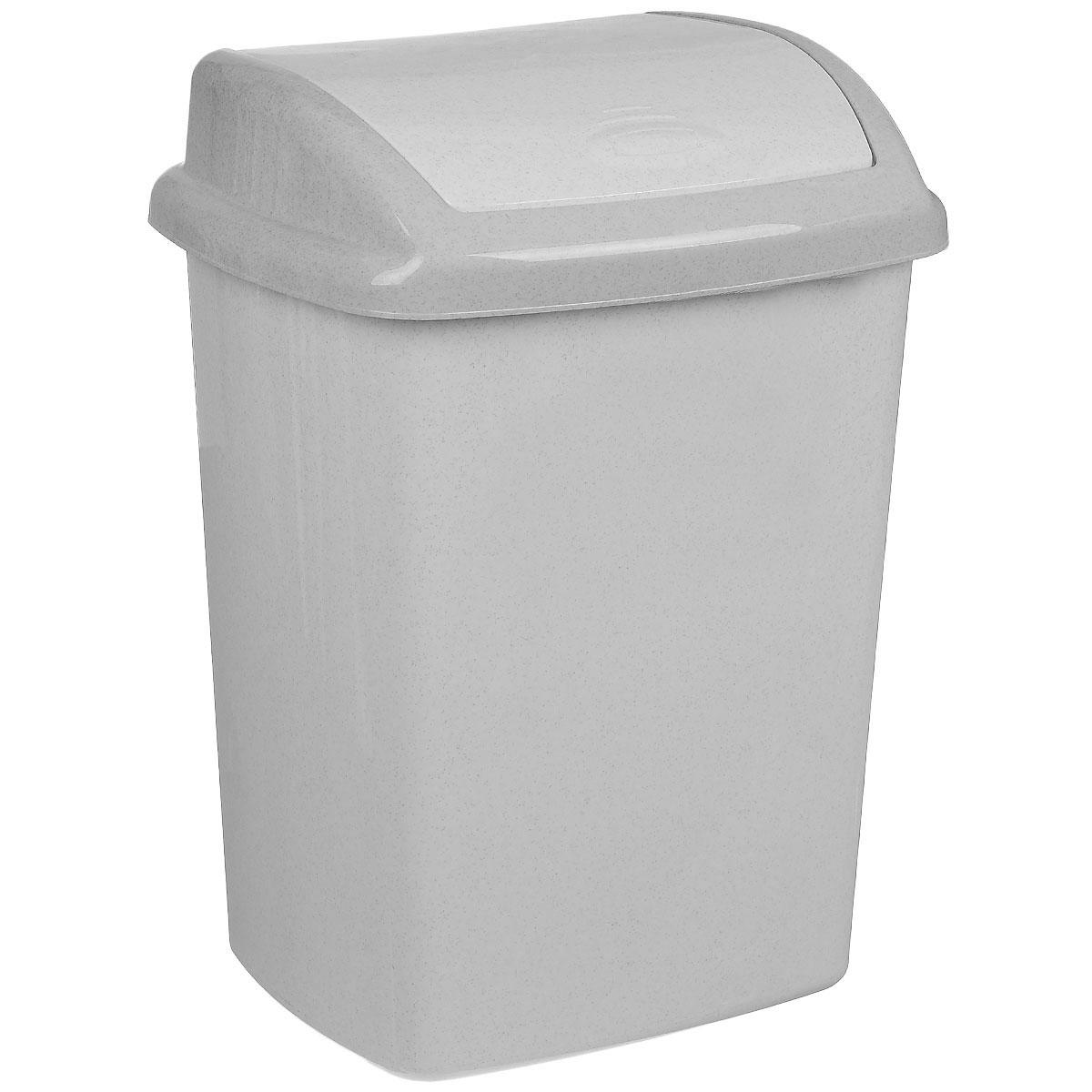 Контейнер для мусора Curver Доминик, цвет: серый люкс (гранит), 25 л68/5/1Контейнер для мусора Curver Доминик изготовлен из прочного пластика. Контейнер снабжен удобной крышкой с подвижной перегородкой. В нем удобно хранить мелкий мусор. Благодаря лаконичному дизайну такой контейнер идеально впишется в интерьер и дома, и офиса.