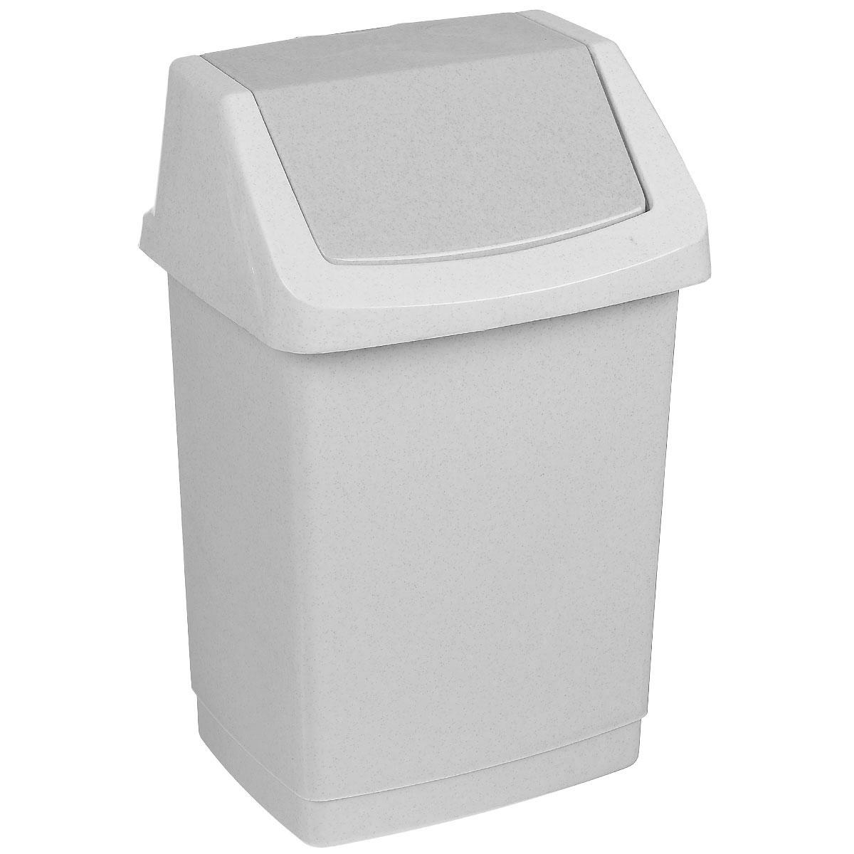 Контейнер для мусора Curver Клик-ит, цвет: серый люкс (гранит), 15 л41619Контейнер для мусора Curver Клик-ит изготовлен из прочного пластика. Контейнер снабжен удобной съемной крышкой с подвижной перегородкой. В нем удобно хранить мелкий мусор. Благодаря лаконичному дизайну такой контейнер идеально впишется в интерьер и дома, и офиса.