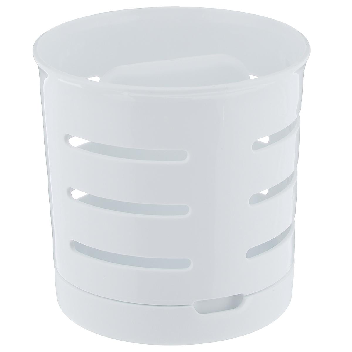 Сушилка для столовых приборов Curver420816Сушилка для столовых приборов Curver изготовлена из прочного пластика. Стенки изделия оформлены перфорацией. Сушилка снабжена поддоном, куда стекает вода. Изделие идеально подходит для хранения столовых приборов.