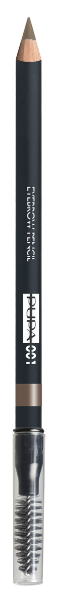 PUPA Карандаш для бровей тон 001 EYEBROW PENCIL Светлый, 1,08 гB2718600Карандаш для бровей выделяет и подчеркивает брови и обеспечивает создание натурального и естественного макияжа.Формула: содержит пластичный и мягкий воск, который обеспечивает безупречное нанесение, четкую и структурированную линию, гарантирует водостойкий результат и стойкий эффект надолго. Упаковка: Деревянный корпус черного сатинового цвета; Серебряный логотип и нанесение цвета кольцом; Аппликатор в форме кисти.