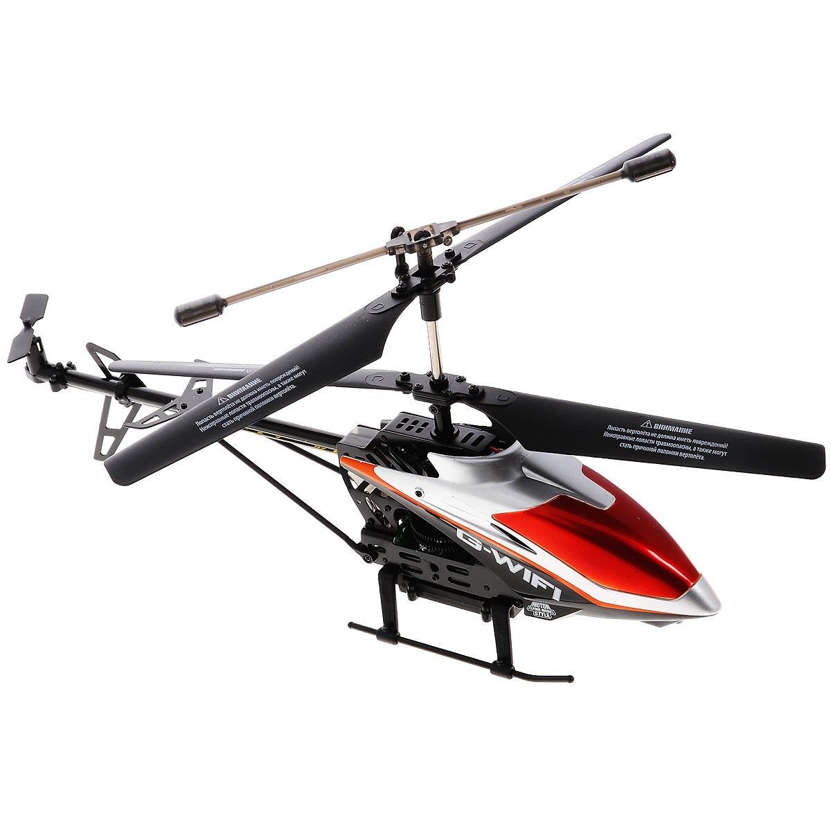 """Вертолет на радиоуправлении 1TOY """"Gyro Wi-Fi"""" со световыми эффектами оснащен встроенным гироскопом, который поможет скорректировать и устранить нежелательные вращения корпуса вертолета, благодаря чему сохранится высокая устойчивость полета, и пропорциональным триммером для выравнивания полета. Каркас вертолета выполнен из пластика с использованием металла. Вертолет имеет трехканальное дистанционное управление: он летает вперед, назад, восьмеркой по кругу, совершает поворот налево и направо. Отличительной особенностью вертолета """"Gyro Wi-Fi"""" является то, что он управляется не с помощью пульта управления, а с помощью любого устройства iPhone, iPod touch или iPad. Модель вертолета идеально подходит для игры внутри помещения. Каждый полет вертолета будет максимально комфортным и принесет вам яркие впечатления!"""