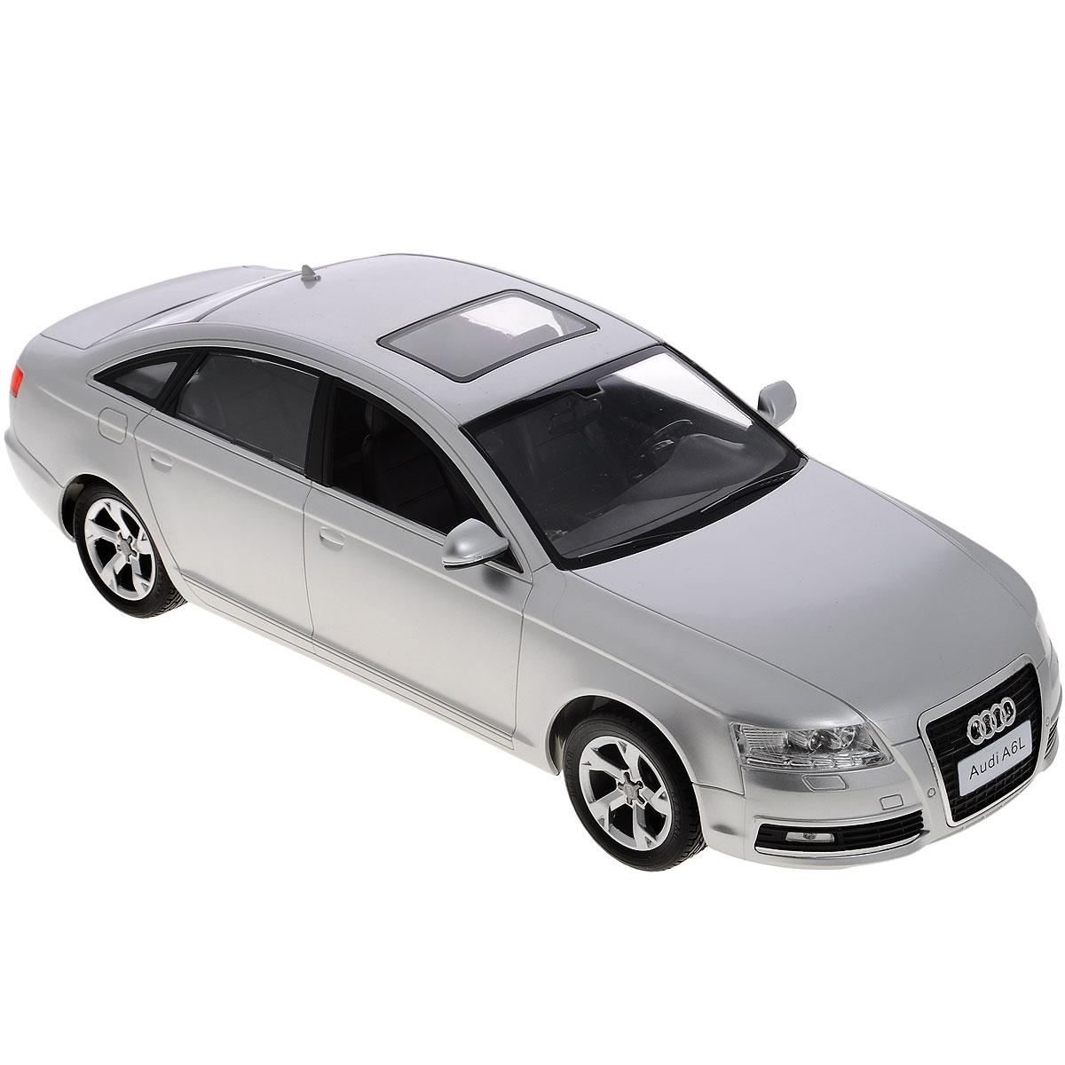 Rastar Радиоуправляемая модель Audi A6L цвет серебристый rastar 28500 hummer h2