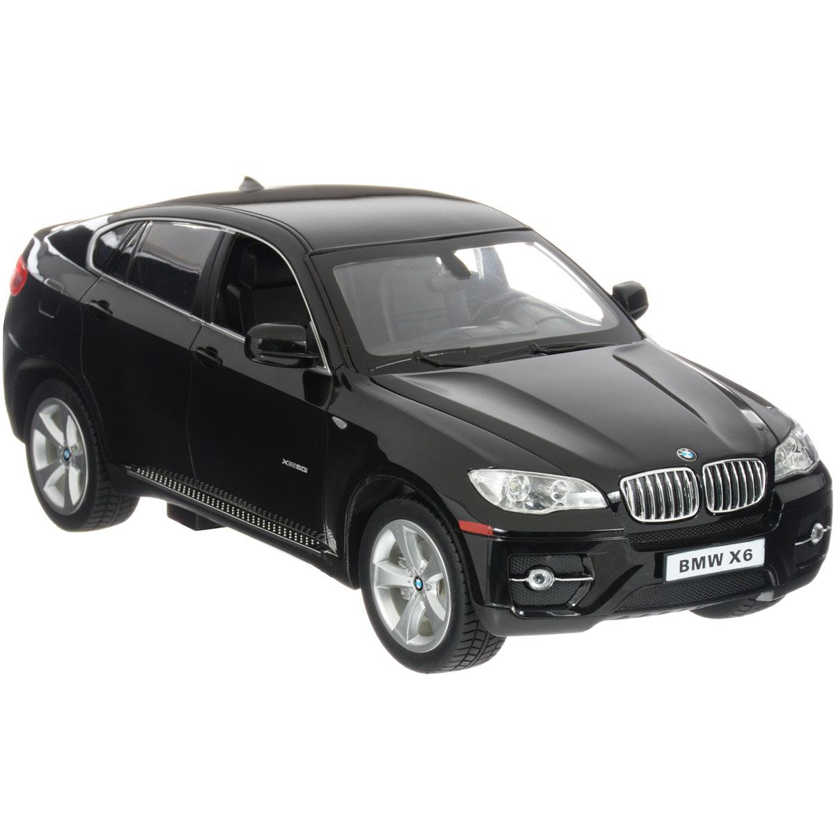 Rastar Радиоуправляемая модель BMW X6 цвет черный машина на радиоуправлении rastar audi q7 1 24
