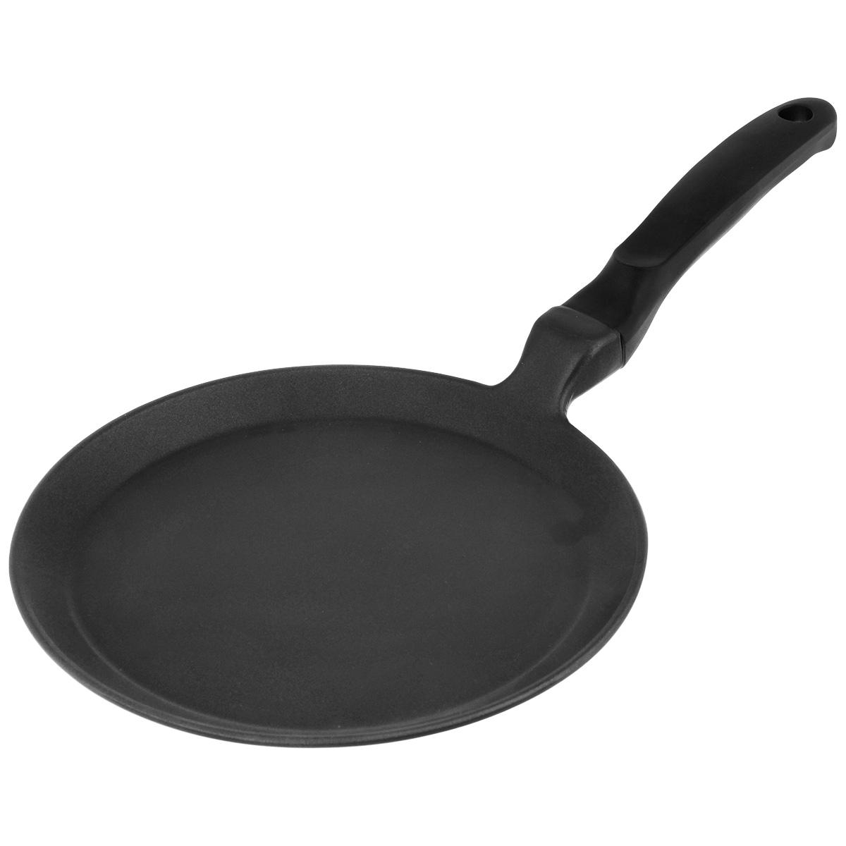 Сковорода блинная Risoli Saporella, с антипригарным покрытием. Диаметр 25 см391602Сковорода блинная Risoli Saporella изготовлена из литого алюминия с антипригарным покрытием. Сковорода идеальна для приготовления пищи с минимальным количеством масла. Изделие оснащено удобной бакелитовой ручкой.Подходит для газовых и электрических плит. Не подходит для индукционных плит. Можно мыть в посудомоечной машине.Диаметр (по верхнему краю): 25 см.Высота: 1,8 см.Длина ручки: 17 см.Толщина стенки: 4 мм.Толщина дна: 5 мм.