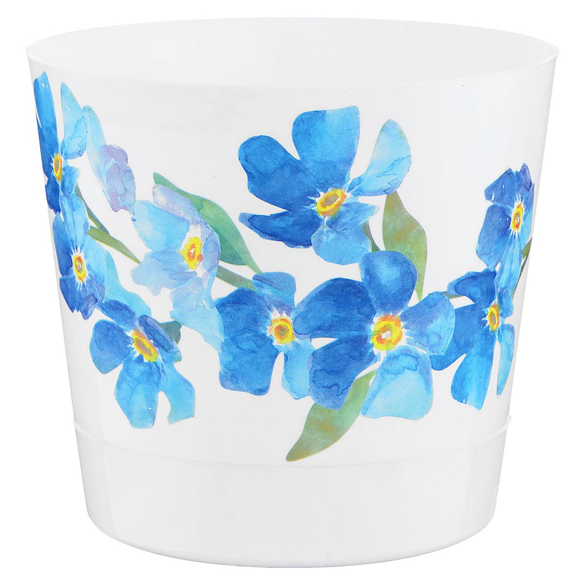 Кашпо Idea Ника. Деко, с прикорневым поливом, с поддоном, цвет: белый, голубой, 1,6 лGPS5-13-RЛюбой, даже самый современный и продуманный интерьер будет не завершённым без растений. Они не только очищают воздух и насыщают его кислородом, но и заметно украшают окружающее пространство. Такому полезному &laquo члену семьи&raquoпросто необходимо красивое и функциональное кашпо, оригинальный горшок или необычная ваза! Мы предлагаем - Кашпо 1,6 л Ника деко d=15 см , с прикорневым поливом, голубые цветы!Оптимальный выбор материала &mdash &nbsp пластмасса! Почему мы так считаем? Малый вес. С лёгкостью переносите горшки и кашпо с места на место, ставьте их на столики или полки, подвешивайте под потолок, не беспокоясь о нагрузке. Простота ухода. Пластиковые изделия не нуждаются в специальных условиях хранения. Их&nbsp легко чистить &mdashдостаточно просто сполоснуть тёплой водой. Никаких царапин. Пластиковые кашпо не царапают и не загрязняют поверхности, на которых стоят. Пластик дольше хранит влагу, а значит &mdashрастение реже нуждается в поливе. Пластмасса не пропускает воздух &mdashкорневой системе растения не грозят резкие перепады температур. Огромный выбор форм, декора и расцветок &mdashвы без труда подберёте что-то, что идеально впишется в уже существующий интерьер.Соблюдая нехитрые правила ухода, вы можете заметно продлить срок службы горшков, вазонов и кашпо из пластика: всегда учитывайте размер кроны и корневой системы растения (при разрастании большое растение способно повредить маленький горшок)берегите изделие от воздействия прямых солнечных лучей, чтобы кашпо и горшки не выцветалидержите кашпо и горшки из пластика подальше от нагревающихся поверхностей.Создавайте прекрасные цветочные композиции, выращивайте рассаду или необычные растения, а низкие цены позволят вам не ограничивать себя в выборе.