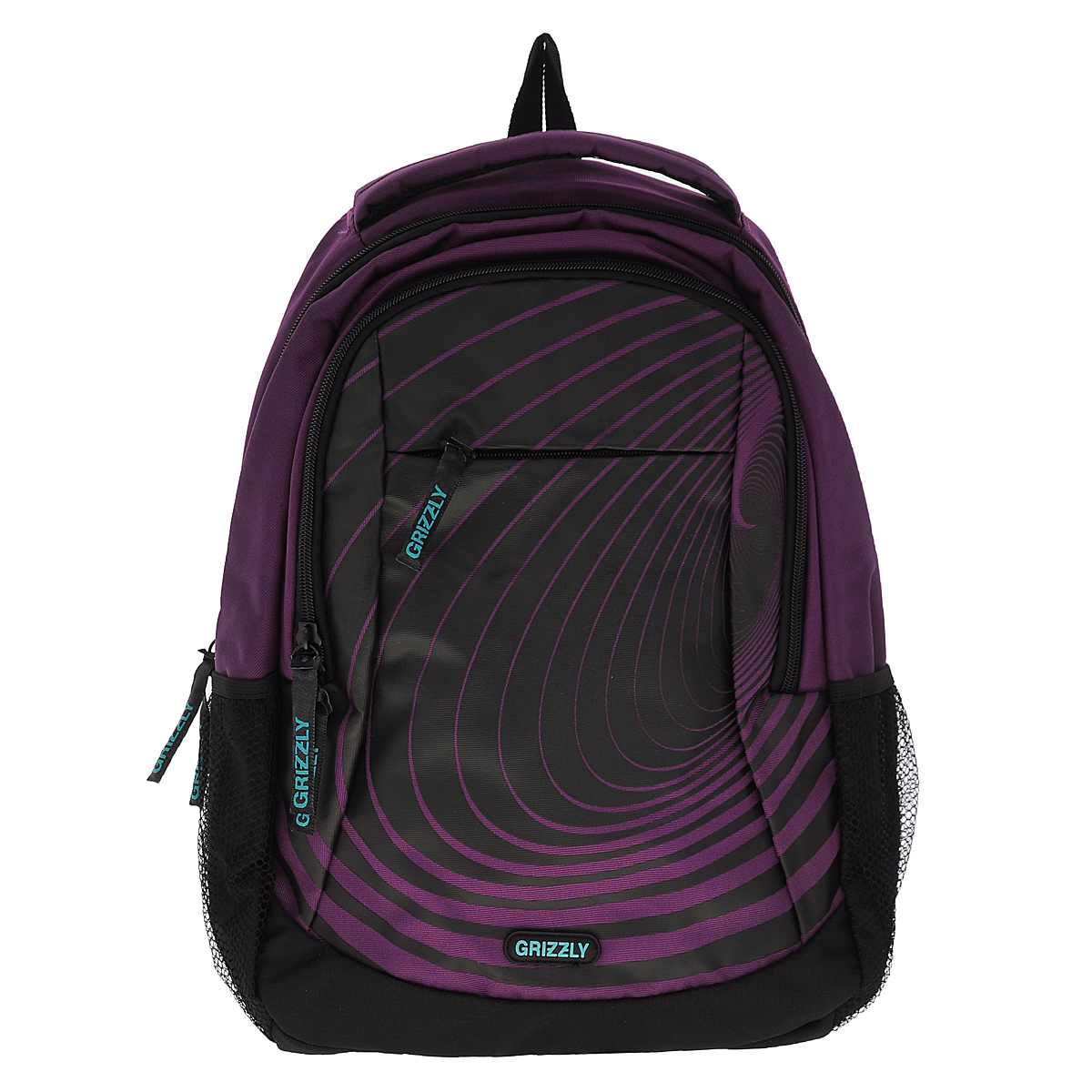 Рюкзак городской Grizzly, цвет: фиолетовый, черный, 24 л. RU-601-2/9
