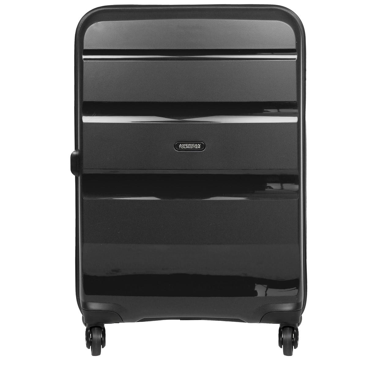 Чемодан American Tourister Bon Air, цвет: черный, 84 л чемодан american tourister pasadena spinner 55 см белый