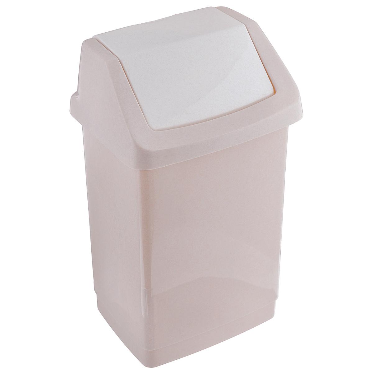 Контейнер для мусора Curver Клик-ит, цвет: бежевый, 9 л391602Контейнер для мусора Curver Клик-ит изготовлен из прочного пластика. Контейнер снабжен удобной съемной крышкой с подвижной перегородкой. Благодаря лаконичному дизайну, такой контейнер идеально впишется в интерьер и дома, и офиса.
