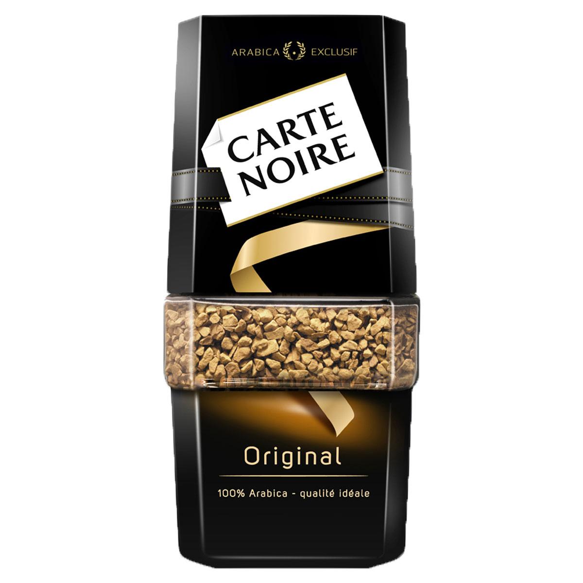 Carte Noire Original кофе растворимый, 47,5 г_1 пачкаДостигнув совершенства в кофейном мастерстве, Carte Noire создал новый стандарт качества кофе. Обжарка Carte Noire Огонь и Лед раскрывает всю интенсивность и богатство вкуса натурального кофейного зерна.Так же как лед украшает пламя, холодный поток останавливает обжарку на самом пике, чтобы создать совершенный насыщенный кофе. В этом столкновении контрастов рождается исключительность Carte Noire -его безупречный насыщенный вкус и непревзойденное качество.Для создания нового вкуса совершенного французского кофе Carte Noire используются высококачественные кофейные зерна 100% Arabica Exclusif.