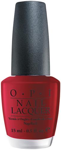 OPI Лак для ногтей Got the Blues for Red, 15 мл6Лак для ногтей OPI быстросохнущий, содержит натуральный шелк и аминокислоты. Увлажняет и ухаживает за ногтями. Форма флакона, колпачка и кисти специально разработаны для удобного использования и запатентованы.