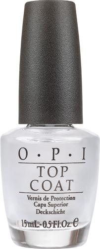 OPI Покрытие закрепляющее Top-Coat, 15 мл28032022Профессиональная формула быстро закрепляет лак, оставляя после высыхания гладкую ровную поверхность с зеркальным блеском.