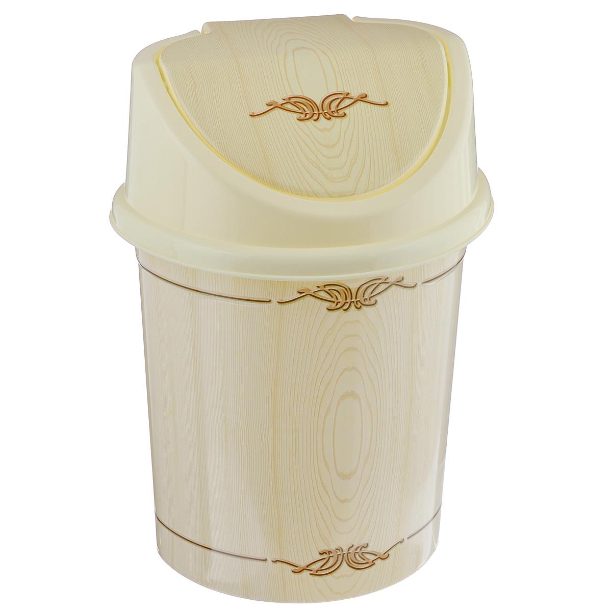 Контейнер для мусора Violet Беленый дуб, цвет: слоновая кость, коричневый, 4 лS03301004Контейнер для мусора Violet Беленый дуб изготовлен из прочного пластика. Контейнер снабжен удобной съемной крышкой с подвижной перегородкой. В нем удобно хранить мелкий мусор. Благодаря лаконичному дизайну такой контейнер идеально впишется в интерьер и дома, и офиса.Размер изделия: 16 см x 20 см x 27 см.