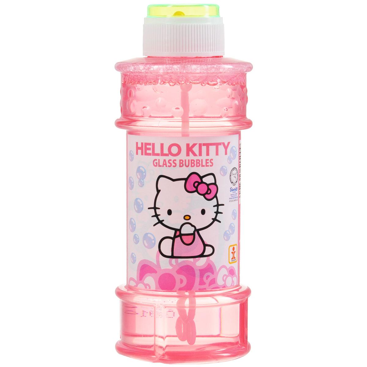 """Мыльные пузыри """"Hello Kitty"""" станут отличным развлечением на любой праздник! Парящие в воздухе, большие и маленькие, блестящие мыльные пузыри всегда привлекают к себе внимание не только детишек, но и взрослых. Смеющиеся ребята с удовольствием забавляются и поднимают настроение всем окружающим, создавая неповторимую веселую атмосферу солнечного радостного дня. В крышке встроена игрушка-лабиринт с шариком. Порадуйте вашего ребенка таким замечательным подарком!"""