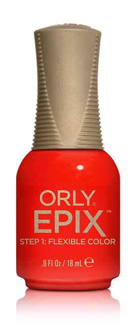 Orly Эластичное цветное покрытие EPIX Flexible Color 922 SPOILER ALERT, 18 мл2101-WX-01Двухфазная эластичная система Flexible Color System - это новейшая запатентованная технология последнего поколения от ORLY, объединившая функции лака для ногтей и гибридных гелевых покрытий. Она обеспечивает прочное эластичное покрытие благодаря содержанию инновационных амортизирующих полимеров. Технология Flexible Color System подразумевает взаимное сцепление цветного лака и верхнего покрытия. Оба препарата системы EPIX дополняют друг друга и действуют вместе.А простое нанесение без подтеков обеспечивается благодаря технологии Smudge-Fixing, которая содержит полимеры, делающие покрытие эластичным и гибким, словно натуральные ногти. Лак быстро выравнивается, исключая смазывание во время нанесения.И еще один плюс, который все женщины оценят по достоинству - инновационная кисть ORLY EPIX. Она обеспечивает точное нанесение и идеальную ровную линию возле кутикулы. Максимальный контроль за результатом гарантирован:• 600 щетинок + плоская кисть• Максимально точное нанесение• Гладкое и плотное покрытие в одно касание кисти• Изогнутый контур кисти для безупречной линии возле кутикулыEPIX от ORLY сочетает все лучшие свойства в одном покрытии – эластичное покрытие без сколов, словно единое целое с ногтями.
