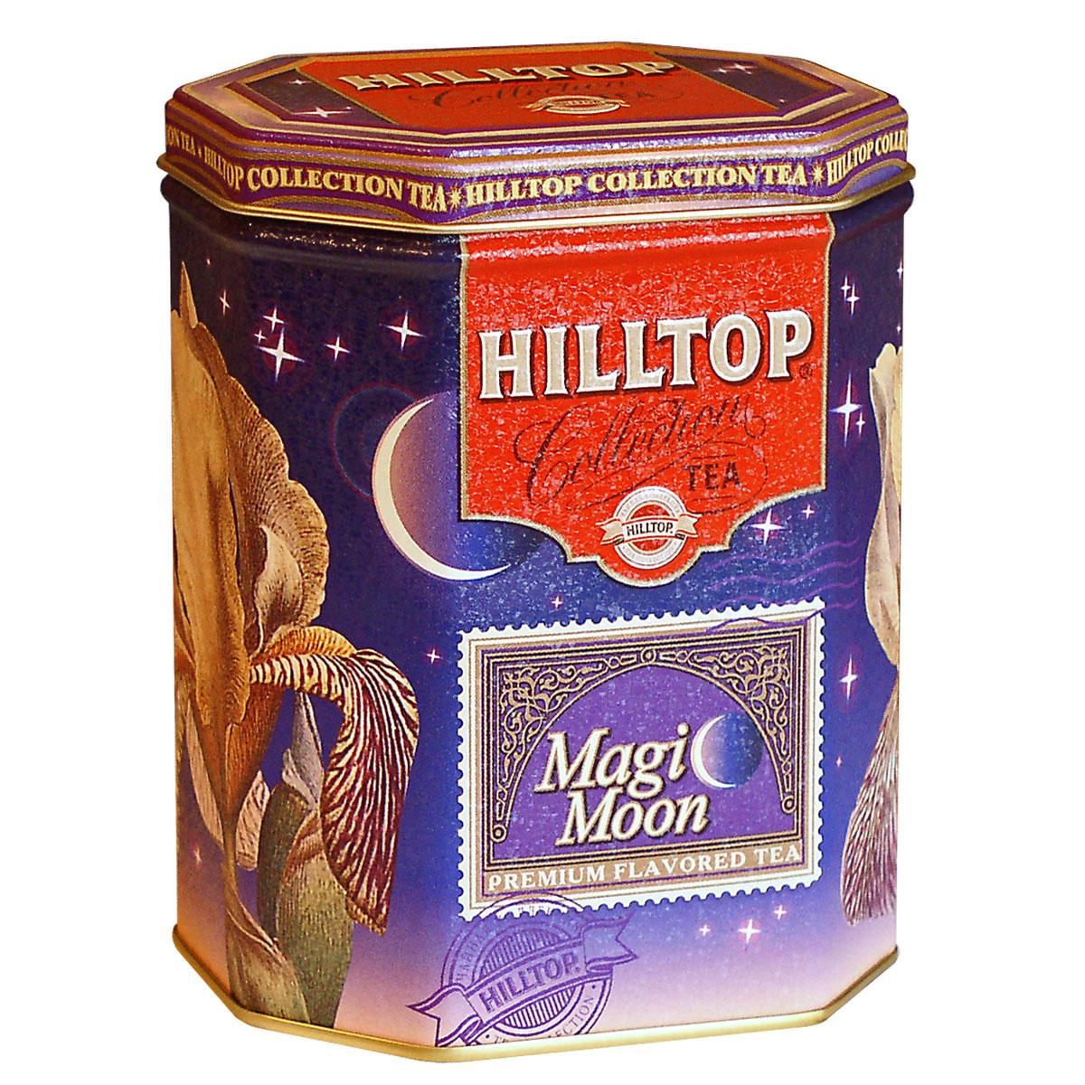 Hilltop Волшебная луна черный листовой чай, 100 г0120710Hilltop Волшебная луна - смесь черного и зеленого чая с лепестками календулы, розы, плодами шиповника, цукатами из папайи, дыни и абрикоса.