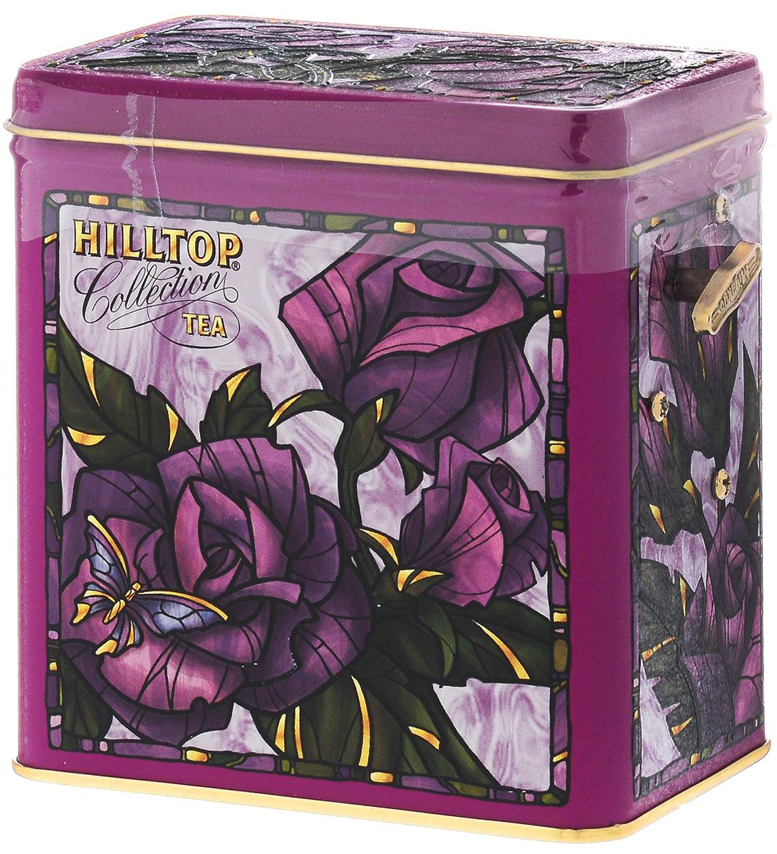 Hilltop Розы 1001 Ночь набор зеленого и черного листового чая в музыкальной шкатулке, 125 г0120710Hilltop Розы - смесь чёрных и зелёных байховых чаев с добавлением лепестков розы, жасмина, подсолнечника и сафлора, ароматизированная натуральными маслами. Оригинальная упаковка в виде музыкальной шкатулки будет великолепно смотреться на семейном застолье.