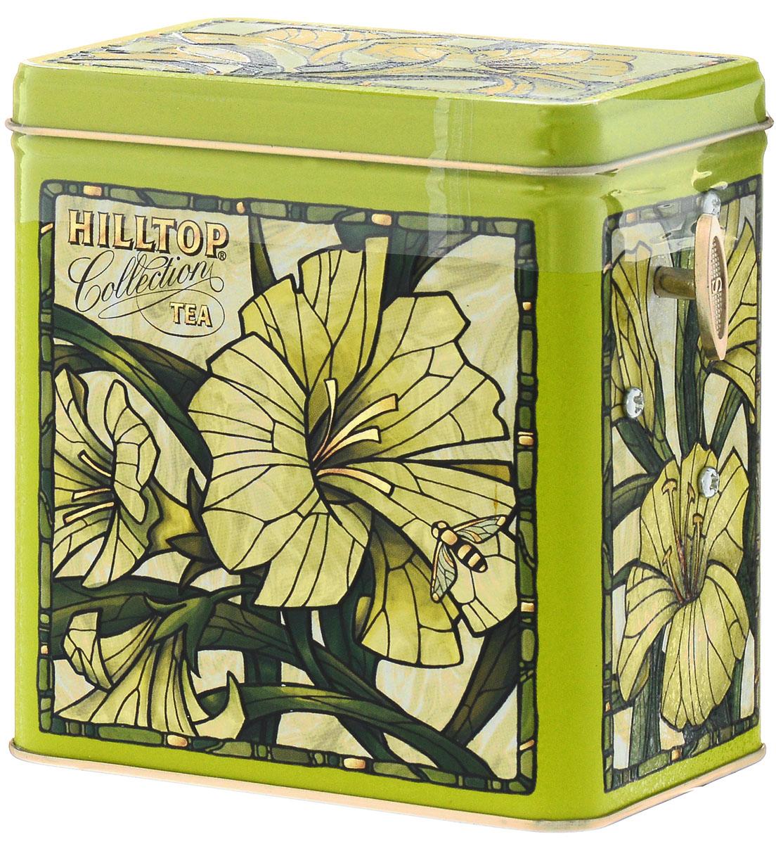 Hilltop Лилии Зеленая симфония набор зеленого листового чая в музыкальной шкатулке, 125 г4607099301047Hilltop Лилии Зеленая симфония - свежий зеленый китайский чай Сенча с лепестками календулы и мальвы. Оригинальная упаковка в виде музыкальной шкатулки будет великолепно смотреться на семейном застолье.Музыкальная шкатулка воспроизводит Колыбельную Брамса.