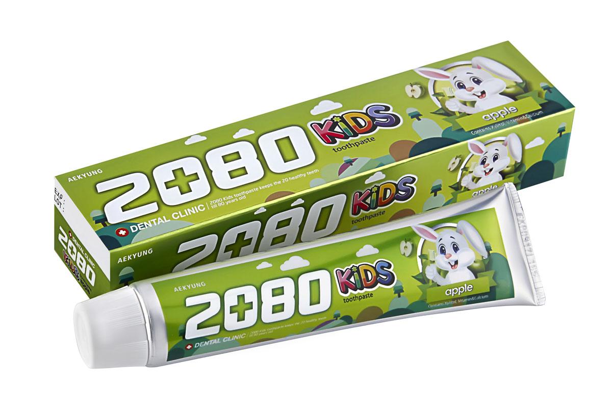 DC 2080 Зубная паста Детская яблоко, 80 гSatin Hair 7 BR730MNЗубная паста содержит вещества специально подобранные для ухода за детскими зубами. Ксилит, натрия монофторфосфат и кальция глицерофосфат предотвращаютпоявление кариеса, способствуют укреплению и формированию зубов. Витамин Е сохраняет здоровье десен. Диоксида кремния - современный абразив, для бережного очищения и защитыэмали. Со вкусом яблока. Для детей от 2-х лет и старше. Характеристики:Вес: 80 г. Артикул: 886342. Производитель: Корея. Товар сертифицирован.