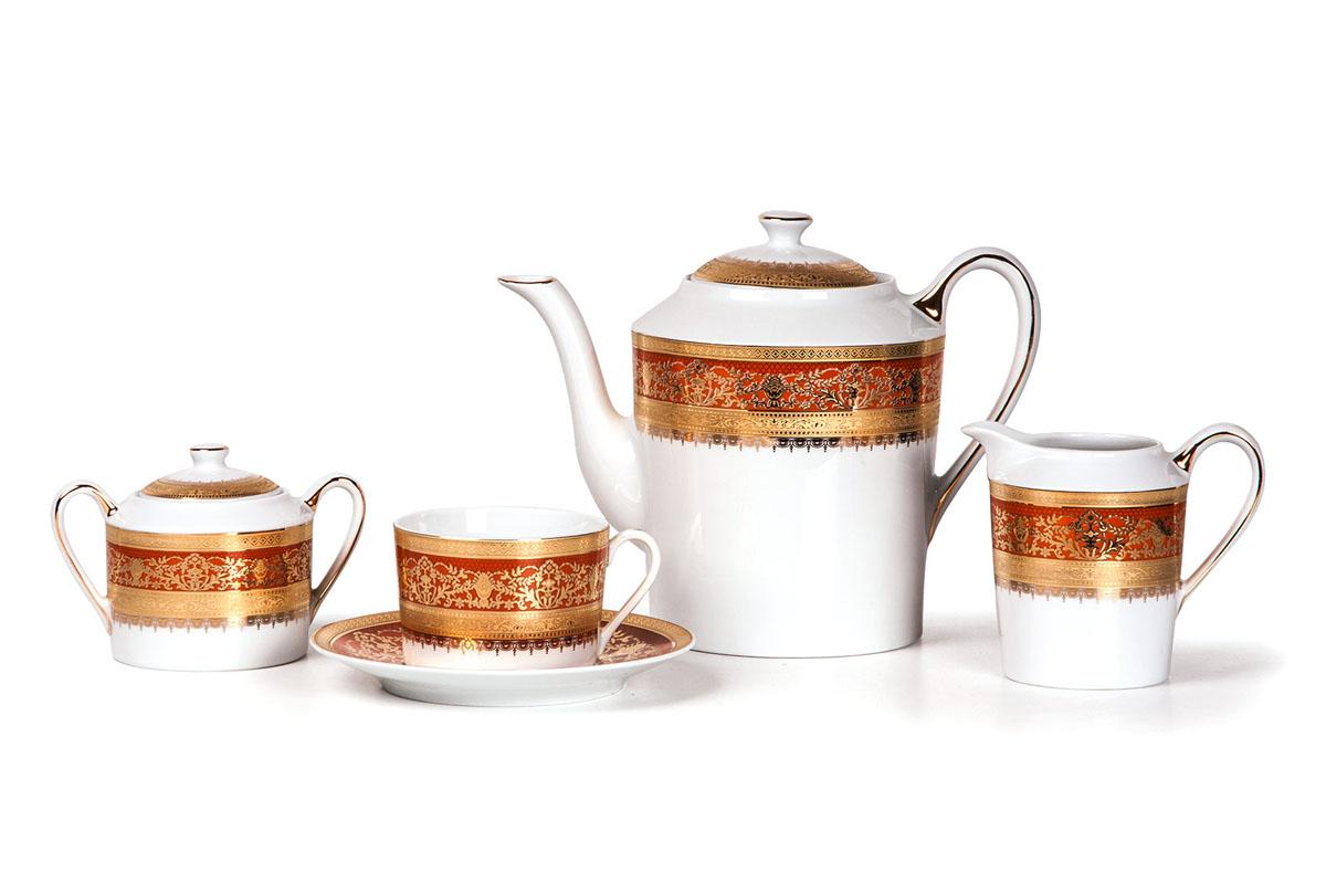 Mimosa 1642 сервиз чайный 15пр, цвет: бело-оранжевыйVT-1520(SR)Чайник 1,2л, сахарница 250мл, молочник 300мл, чайная пара 220 мл *6 штук . Фарфор фабрики Tunisie Porcelaine, производится в Тунисе из знаменитой своим качеством и белизной глины, добываемой во французской провинции Лимож.Преимущества этого фарфора заключаются в устойчивости к сколам и трещинам, что возможно благодаря двойному термическому обжигу. Европейский дизайн, декор и формы обеспечиваются за счет тесного сотрудничества фабрики с ведущими мировыми дизайн-бюро такими как: Nelly Reynal, Yves De la Rosiere, Sarah Anderson, Heracles. Материал: фарфор: цвет: бело-оранжевыйСерия: MIMOSA