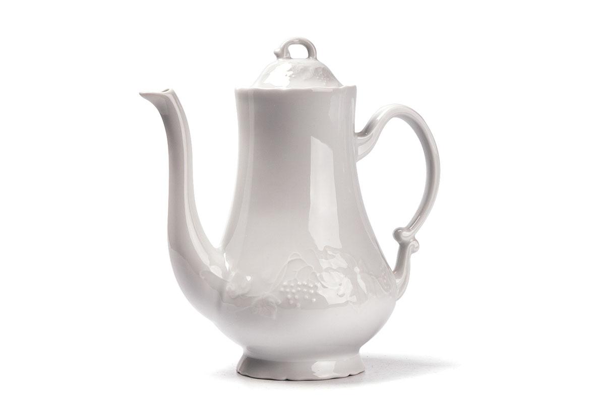 Кофейник, V=1300 мл, цвет: белый115510Кофейник 1300 мл Материал: фарфор: цвет: белыйСерия: VENDANGE
