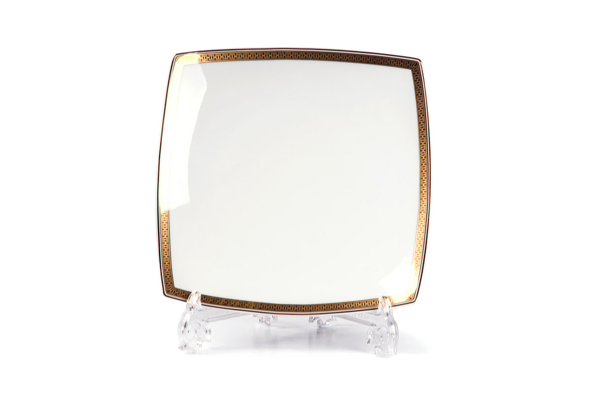 Kyoto 1554 Набор тарелок 26 см, 6 шт/уп, цвет: белый с золотом