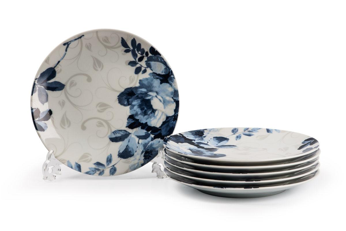 Monalisa 1780 Набор десертных тарелок 21см* 6 шт, цвет: бело-синийH7312в наборе тарелка 21 см 6 штук Материал: фарфор: цвет: бело-синийСерия: MONALISA
