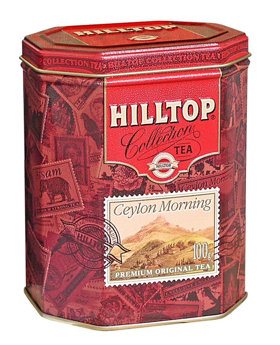 Hilltop Цейлонское Утро черный листовой чай, 100 г114752Классический крупнолистовой черный чай Hilltop Цейлонское Утро с мягким ароматом и тонизирующими свойствами.