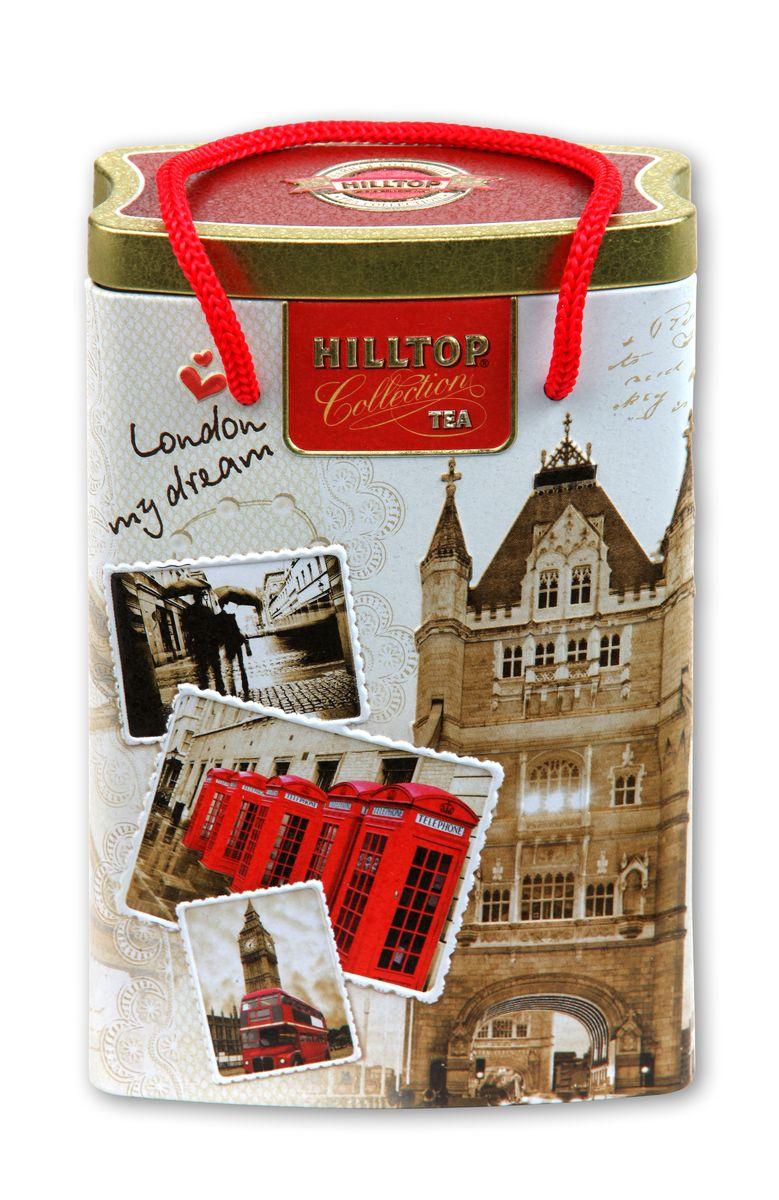Hilltop Прогулки по Лондону черный листовой чай, 125 г0120710Черный крупнолистовой чай Hilltop Прогулки по Лондону с цедрой лимона и ароматом бергамота.