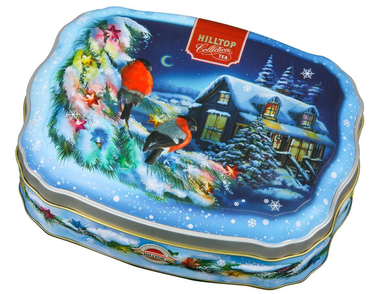 Hilltop Зимние снегири черный листовой чай, 100 г70484-00Крупнолистовой терпкий черный чай Hilltop Зимние снегири прекрасно согреет вас долгими зимними вечерами. Яркая упаковка-шкатулка послужит прекрасным подарком, а также украсит любое новогоднее чаепитие!