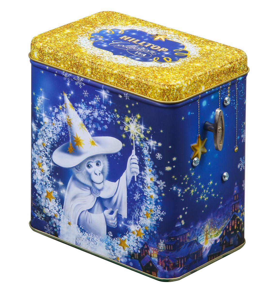 Hilltop Волшебный звездочет Черное золото черный листовой чай (музыкальная шкатулка)0120710Hilltop Волшебный звездочет Черное золото - благородный китайский черный чай, сочетающий утонченный древесный аромат с крепостью настоя и богатым вкусом с оттенком чернослива. Поставляется в красивой упаковке в виде праздничной музыкальной шкатулки.