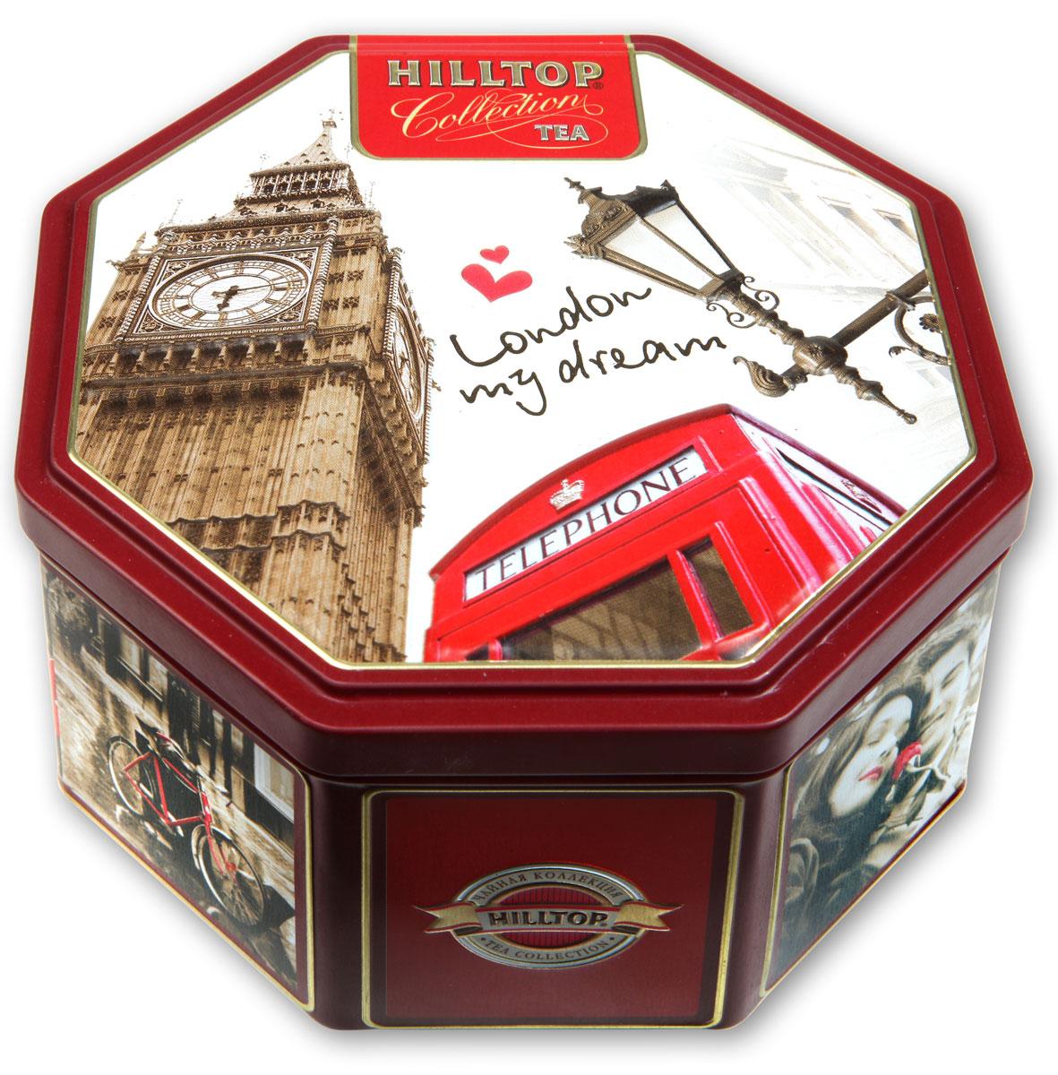 Hilltop Прогулки по Лондону черный листовой чай, 150 г4607099303331Hilltop Прогулки по Лондону - особо крупнолистовой цейлонский черный чай с насыщенным ароматом и терпким вкусом.