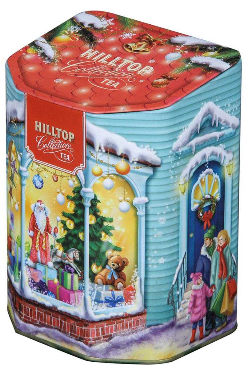 Hilltop Магазин подарков черный листовой чай, 80 г80002-00Чай Hilltop Магазин подарков в праздничной упаковке станет отличным подарком к Новому Году и Рождеству для вас и ваших близких. Знаменитый китайский полуферментированный чай Молочный Улун с нежным ароматом свежих сливок и сливочно-карамельным послевкусием никого не оставит равнодушным. А яркая банка с необычным дизайном от Hilltop послужит замечательным украшением праздничного стола.
