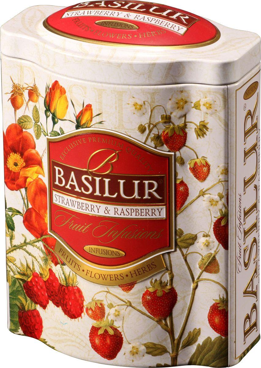 Basilur Strawberry and Raspberry фруктовый листовой чай, 100 г (жестяная банка)0120710Фруктовый чай Basilur Strawberry and Raspberry с кусочками папайи, яблока, вишни, клубники и китайской дерезы, гибискусом и ароматом малины. Basilur Strawberry and Raspberry - это взрыв летних ароматов, которые не оставят вас равнодушными. Идеально подходит, как холодный напиток в теплый летний день, так и теплый напиток прохладной ночью. Чай будет приятным напитком в течение всего дня.