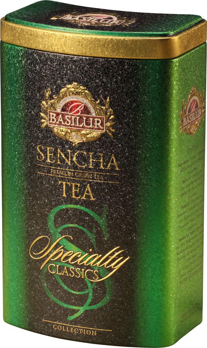 Basilur Sencha зеленый листовой чай, 100 г (жестяная банка)0120710Чай зелёный китайский байховый листовой Basilur Sencha. Зеленому чаю Сенча присущ мягкий, приятный вкус и насыщенный цвет настоя, который получается благодаря лёгкой обработки паром листьев сразу после сбора. Этот полезный напиток освежит ваше дыхание и придаст ясность мыслям. Идеально подходит для людей ведущих здоровый образ жизни.