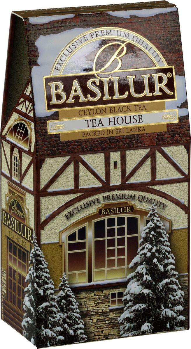 Basilur Tea House черный листовой чай, 100 г0120710Чай чёрный цейлонский байховый листовой Basilur Tea House с лепестками василька и ароматами персика и сливок.