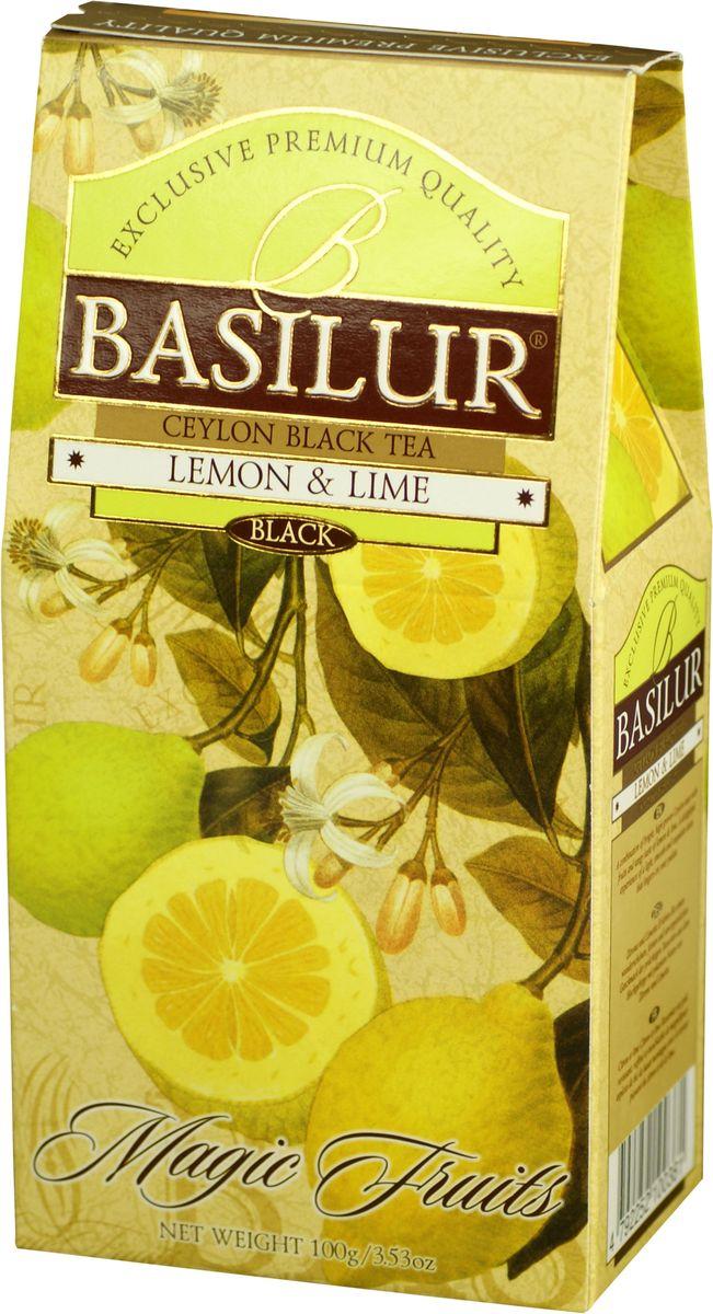 Basilur Lemon and Lime черный листовой чай, 100 г70169-00Чай чёрный цейлонский байховый листовой Basilur Lemon and Lime с кусочками ананаса, лепестками лимонной вербены, василька, апельсина и ароматами лимона и лайма. Великолепный купаж элитных сортов чёрного высокогорного цейлонского чая, дополненный свежим, лёгким ароматом лимона и лайма, создает неповторимый вкус Basilur Lemon and Lime, оставляющий нежное и мягкое послевкусие.