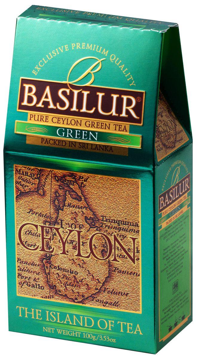 Basilur Green зеленый листовой чай, 100 г0120710Basilur Green OPA - зеленый байховый листовой чай. Цейлонский зеленый чай способствует здоровью и долголетию. Минимальная обработка этого вида чая позволяет сохранить большинство витаминов, минералов, антиоксидантов, и других биоактивных веществ, благотворно влияющих на организм.