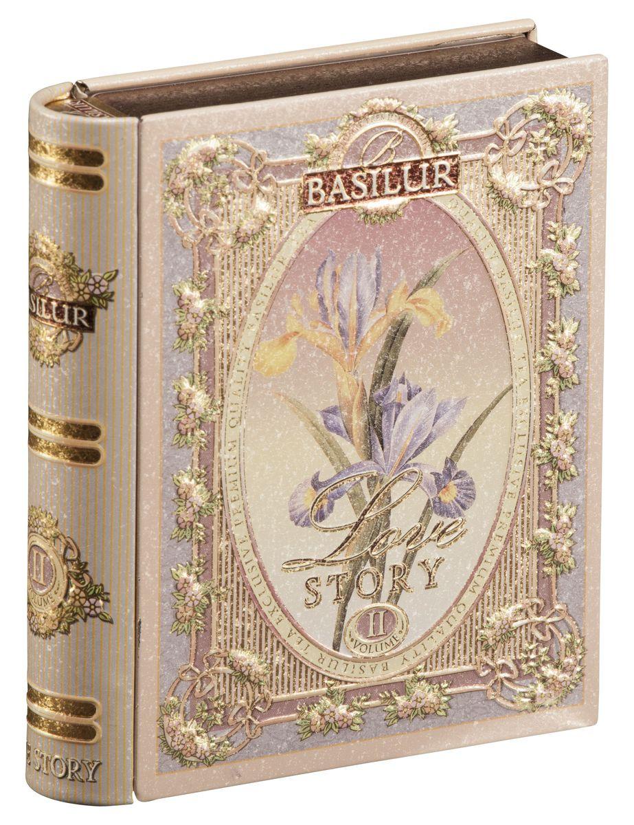 Basilur Tea Book. Love Story II черный листовой чай, 100 г (жестяная банка)70485-00Basilur Tea Book. Love Story II содержит в себе чай чёрный цейлонский байховый листовой и чай зелёный цейлонский байховый листовой (смесь) с лепестками амаранта и ароматами миндаля и розы.