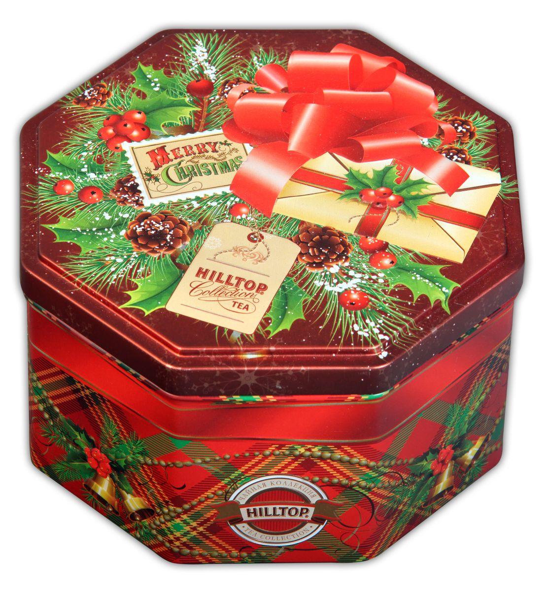Hilltop С Рождеством Праздничный черный листовой чай, 150 г4607099302228Hilltop С Рождеством - крупнолистовой черный чай с цветами календулы и василька. Содержит сладкие цукаты манго и банана