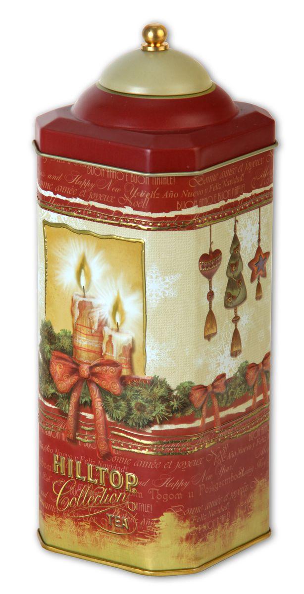 Hilltop Рождественская ночь Рождественский черный листовой чай, 125 г0120710Фонарик — символ уюта и сокровенного настроения... Зажгите тепло праздничных встреч для своих гостей вместе с чаем Hilltop Рождественская ночь Ароматный черный чай с корицей и цедрой апельсина дополнен миндальным орехом, инжиром и гвоздикой.