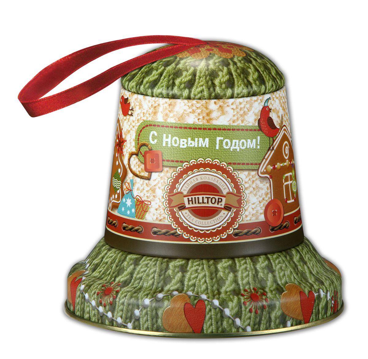 Hilltop Колокольчик Теплый подарок черный листовой чай, 100 г0120710Hilltop Колокольчик Теплый подарок - черный крупнолистовой чай с цедрой апельсина и ароматом бергамота. Праздничная упаковка в виде елочной игрушки будет великолепно смотреться на семейном новогоднем застолье.
