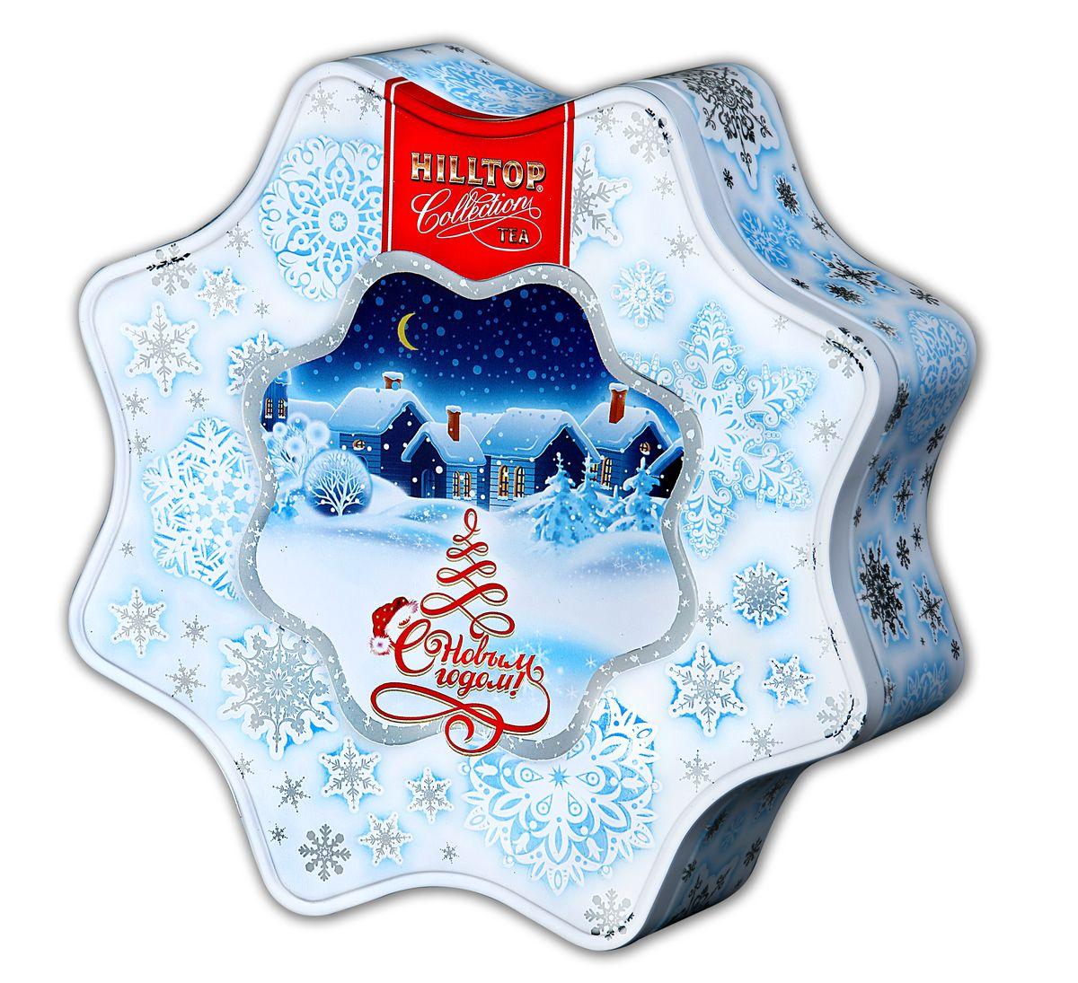 Hilltop Снежинка белая Молочный оолонг улун листовой, 100 г1158-08Знаменитый китайский полуферментированный чай Улун с нежным ароматом свежих сливок и сливочно-карамельным послевкусием вы найдете в наборе Hilltop Снежинка белая. Этот чай в красивой праздничной упаковке можно преподнести в подарок, или просто украсить им новогоднее или рождественское чаепитие в кругу друзей.