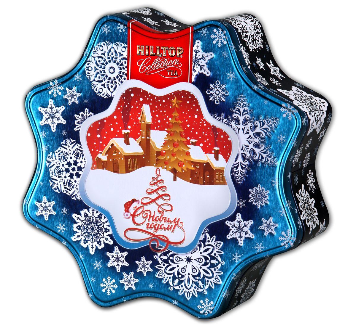 Hilltop Снежинка голубая Зимняя клюква черный листовой чай, 100 г0120710Крупнолистовой черный чай с кусочками ягод, терпко-сладким вкусом и природной свежестью натуральной клюквы сочетаются в прекрасном подарочном наборе Hilltop Снежинка голубая. Этот чай прекрасно согреет в зимний вечер и послужит отличным поводом собрать на чай друзей. Также яркая упаковка будет отличным подарком для истинных ценителей чая!