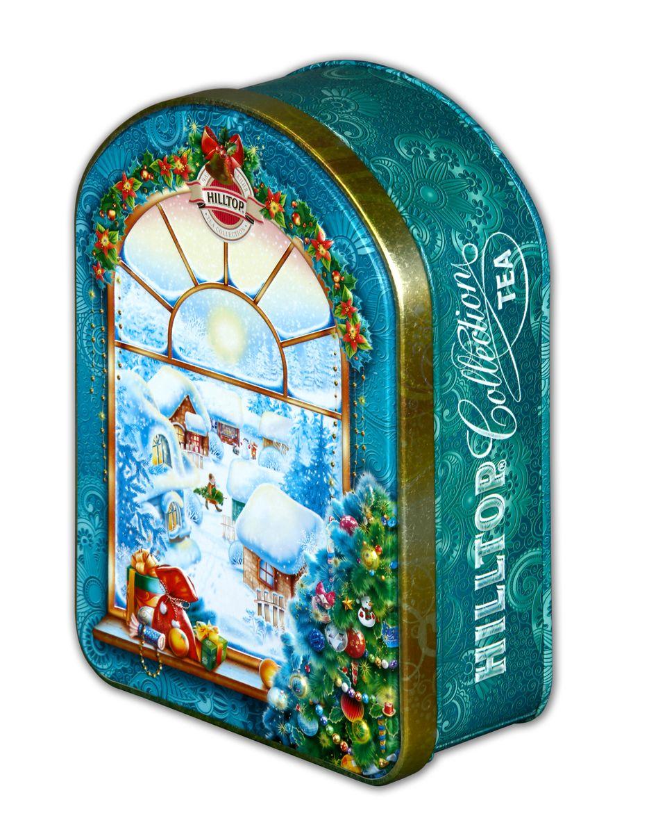 Hilltop Зимнее утро черный листовой чай, 100 г4607099305717Крупнолистовой цейлонский черный чай Hilltop Зимнее утро с глубоким насыщенным вкусом и изумительным ароматом в праздничной упаковке послужит прекрасным подарком к новогодним праздникам, а также великолепно взбодрит вас в любое время дня. Красивая шкатулка с зимними видами безусловно украсит ваш дом!