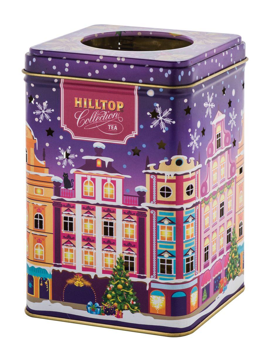 Hilltop Вечерний город черный листовой чай, 100 г0120710Hilltop Вечерний город - благородный китайский черный чай, сочетающий утонченный древесный аромат с крепостью настоя и богатым вкусом с оттенком чернослива. Праздничная нарядная упаковка будет великолепно смотреться на семейном новогоднем застолье.