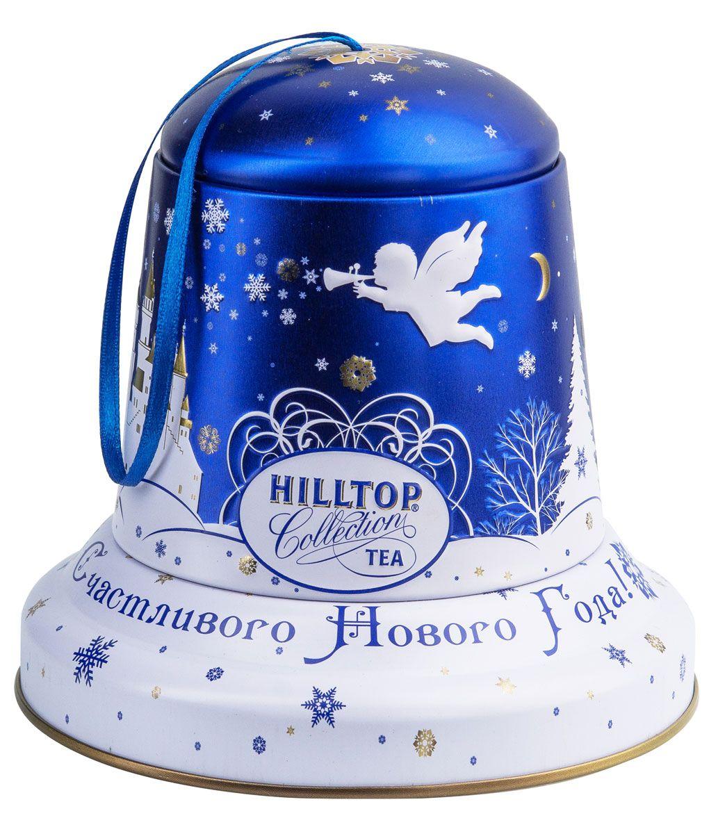 Hilltop Снежный ангел чайный набор, 100 г4607099304468Подарочная упаковка чая Hilltop Снежный ангелпослужит великолепным украшением вашего дома в новогодние праздники! Благодаря необычному дизайну в виде елочной игрушки - колокольчика коробку можно повесить прямо на новогоднюю елку. Внутри вы найдете благородный китайский чёрный чай Чёрное золото, сочетающий утонченный древесный аромат с крепостью настоя и богатым вкусом с оттенком чернослива.