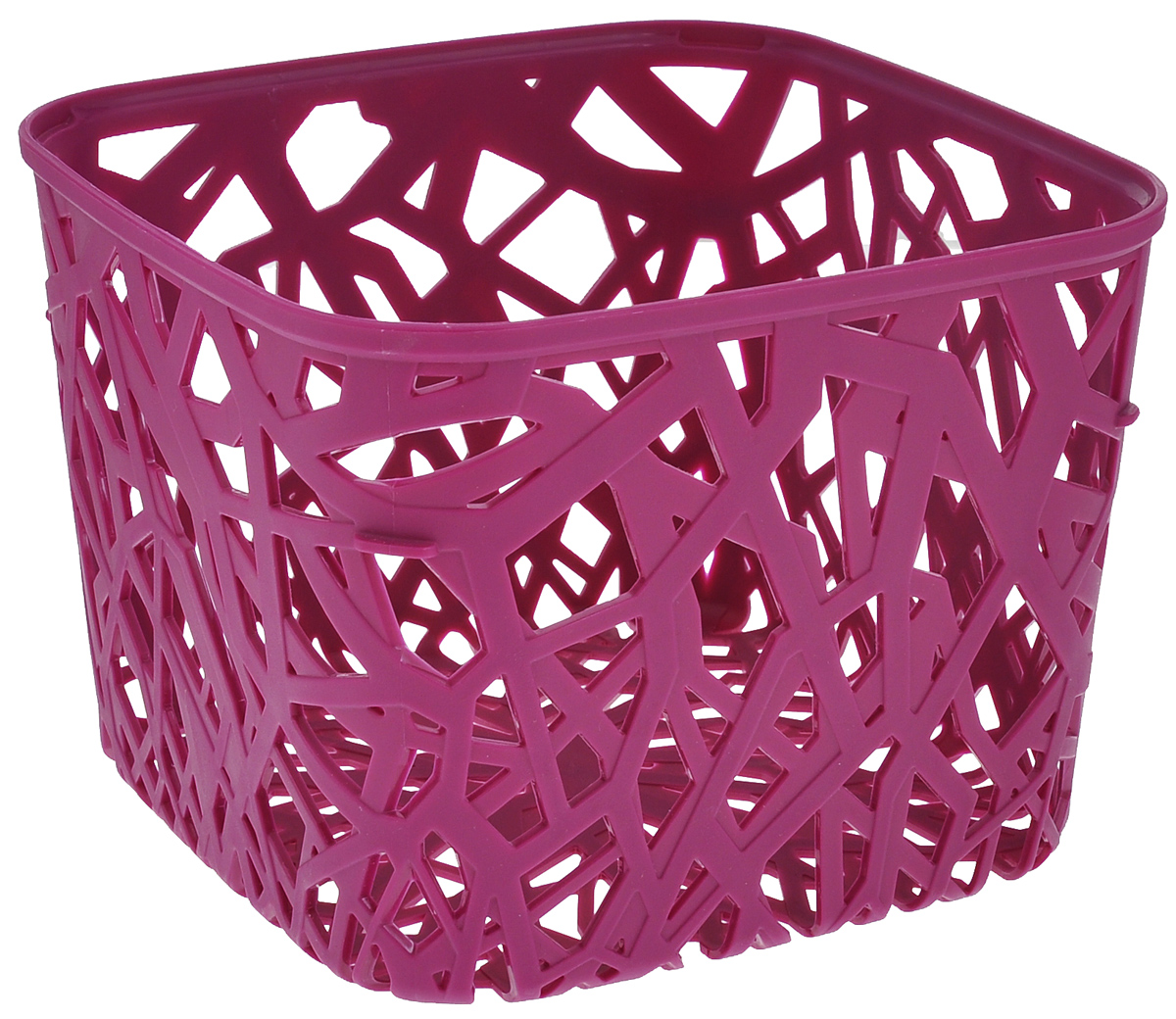 Корзинка Curver Ecolife, цвет: фиолетовый, 19,2 см х 19,2 см х 14,4 смTD 0033Квадратная корзинка Curver Ecolife изготовлена из высококачественного пластика. Предназначена для хранения различных предметов в ванной, на кухне, на даче или в гараже. Стенки корзины оформлены изящной перфорацией, обеспечивающей естественную вентиляцию.