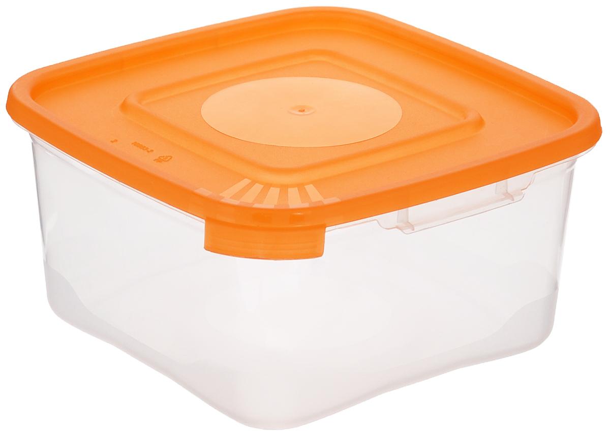 Контейнер Полимербыт Каскад, цвет: оранжевый, прозрачный, 460 млС610_оранжевыйКонтейнер Полимербыт Каскад квадратной формы, изготовленный из прочного пластика, предназначен специально для хранения пищевых продуктов. Крышка легко открывается и плотно закрывается.Прозрачные стенки позволяют видеть содержимое. Контейнер устойчив к воздействию масел и жиров, легко моется. Контейнер имеет возможность хранения продуктов глубокой заморозки, обладает высокой прочностью. Можно мыть в посудомоечной машине. Подходит для использования в микроволновых печах.